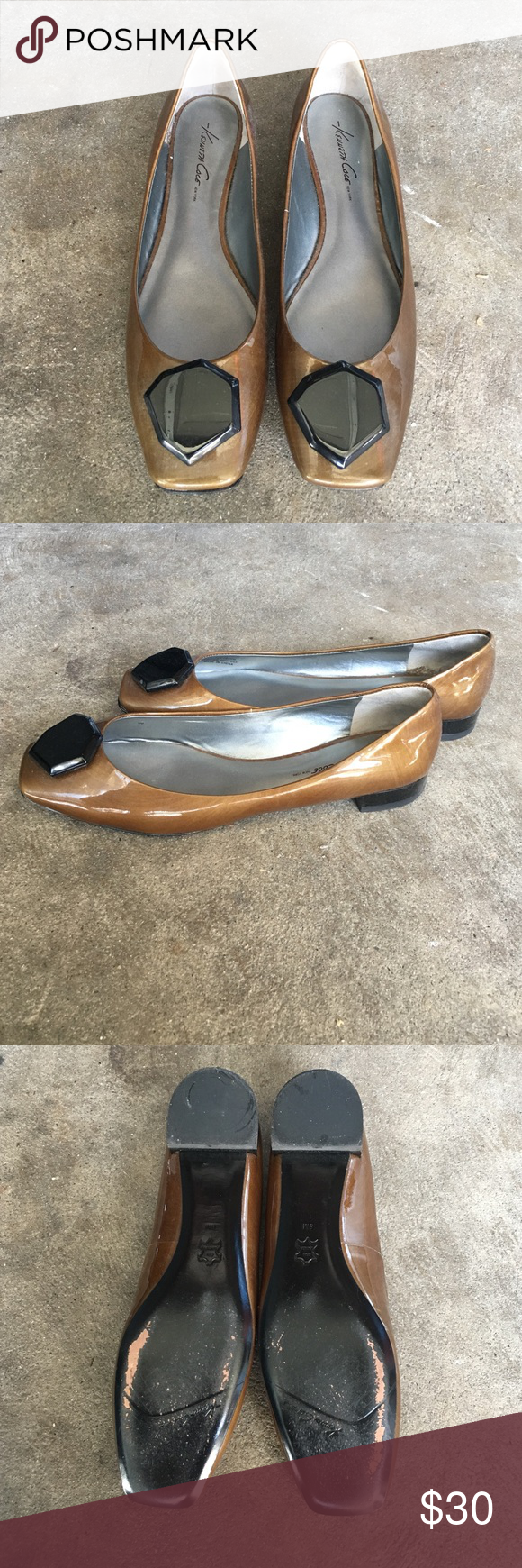 Kenneth Cole flats Worn once in size 8. Kenneth Cole Shoes