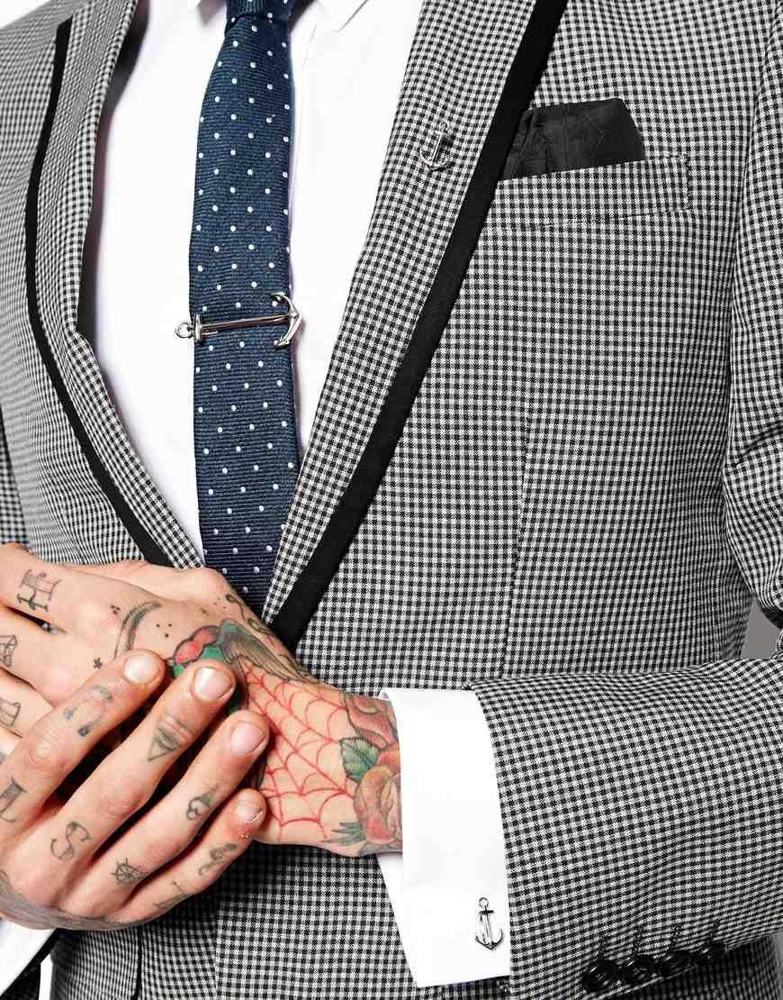 5d408a5a9de6 ASOS Anchor Tie Clip Pin & Cufflinks Set | Fashion | Cufflink set ...