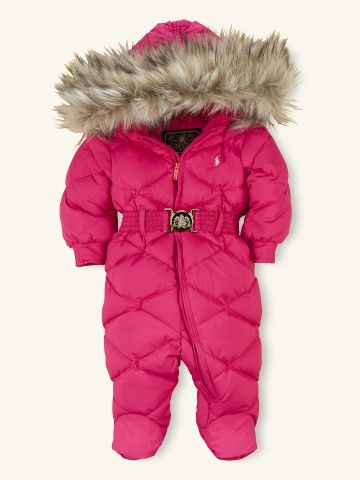 f0e961aed Footed Down Snowsuit - Layette Outerwear - RalphLauren.com | Kaitlyn ...