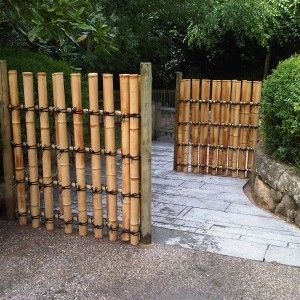 Unique Format Natural Bamboo Fencing Bamboo Fence Design Ideas For