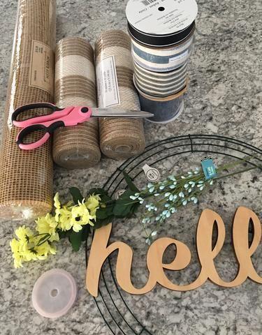 Photo of DIY deco mesh wreath