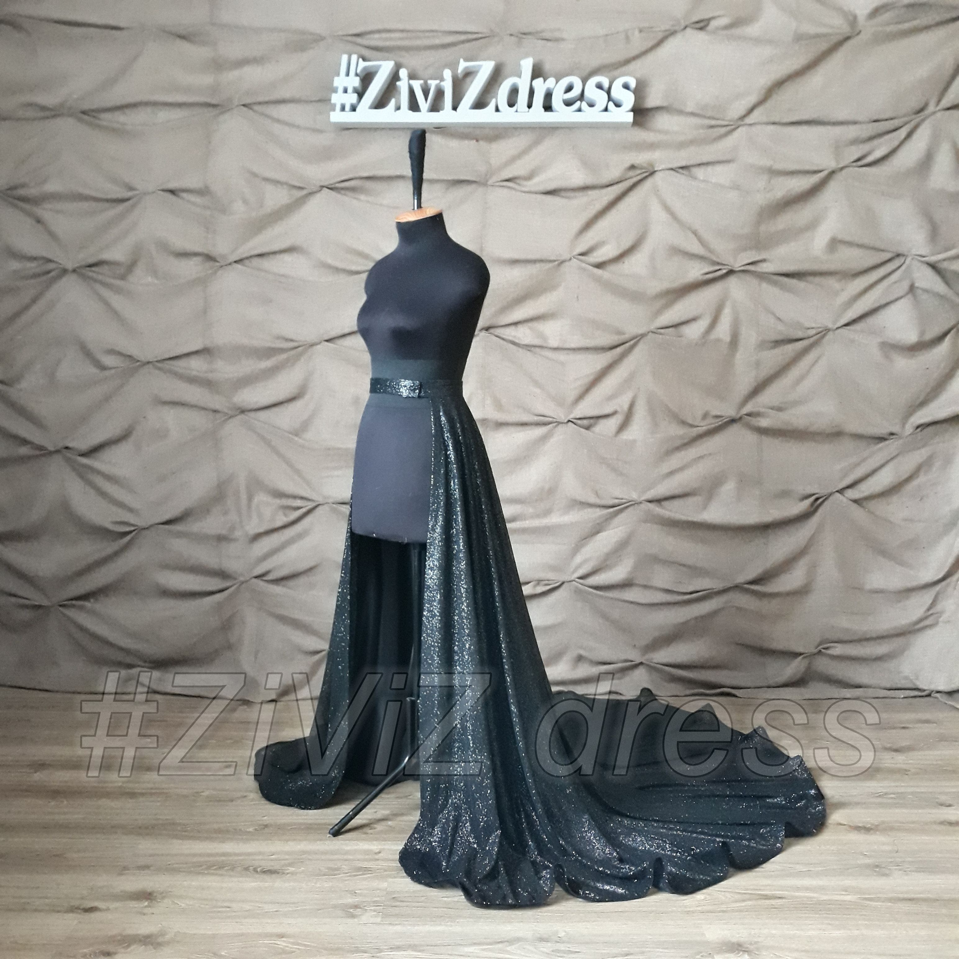 Super Glitter Black Train Skirt Black Wedding Train Glitter Etsy Black Wedding Dresses Gothic Wedding Dress Glitters Skirt [ 3088 x 3088 Pixel ]