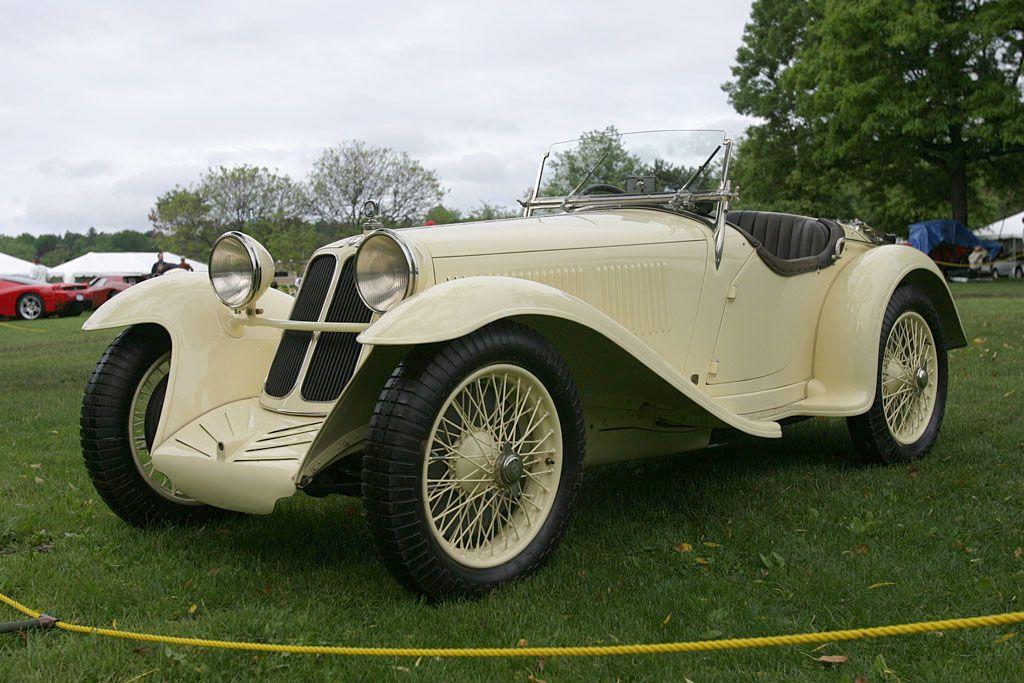 Maserati 4CS Roadster (1932) aluminum coachwork by Brianza. Maserati's first road car after two ...