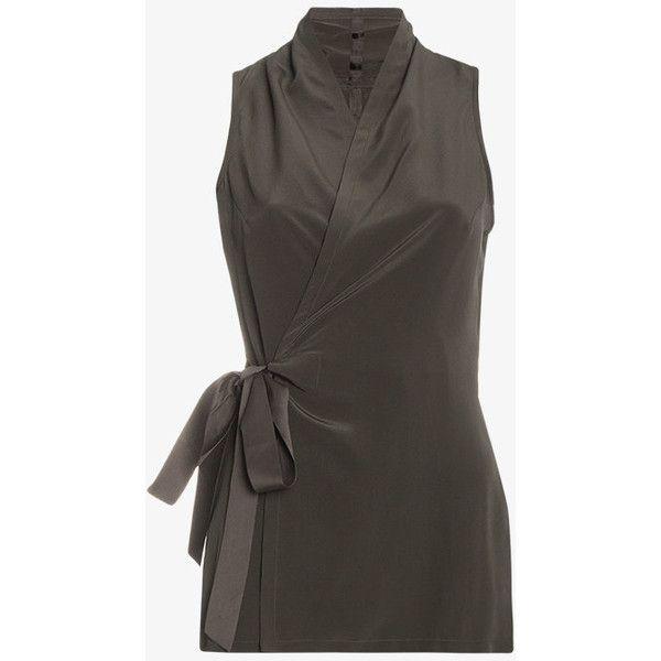 Silk wrap top Rick Owens Sale Get To Buy Purchase Cheap Price Big Sale zRbzKH1