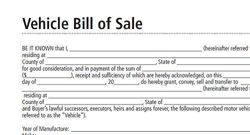 Printable Sample Bill Of Sale Form Form  Real Estate Forms