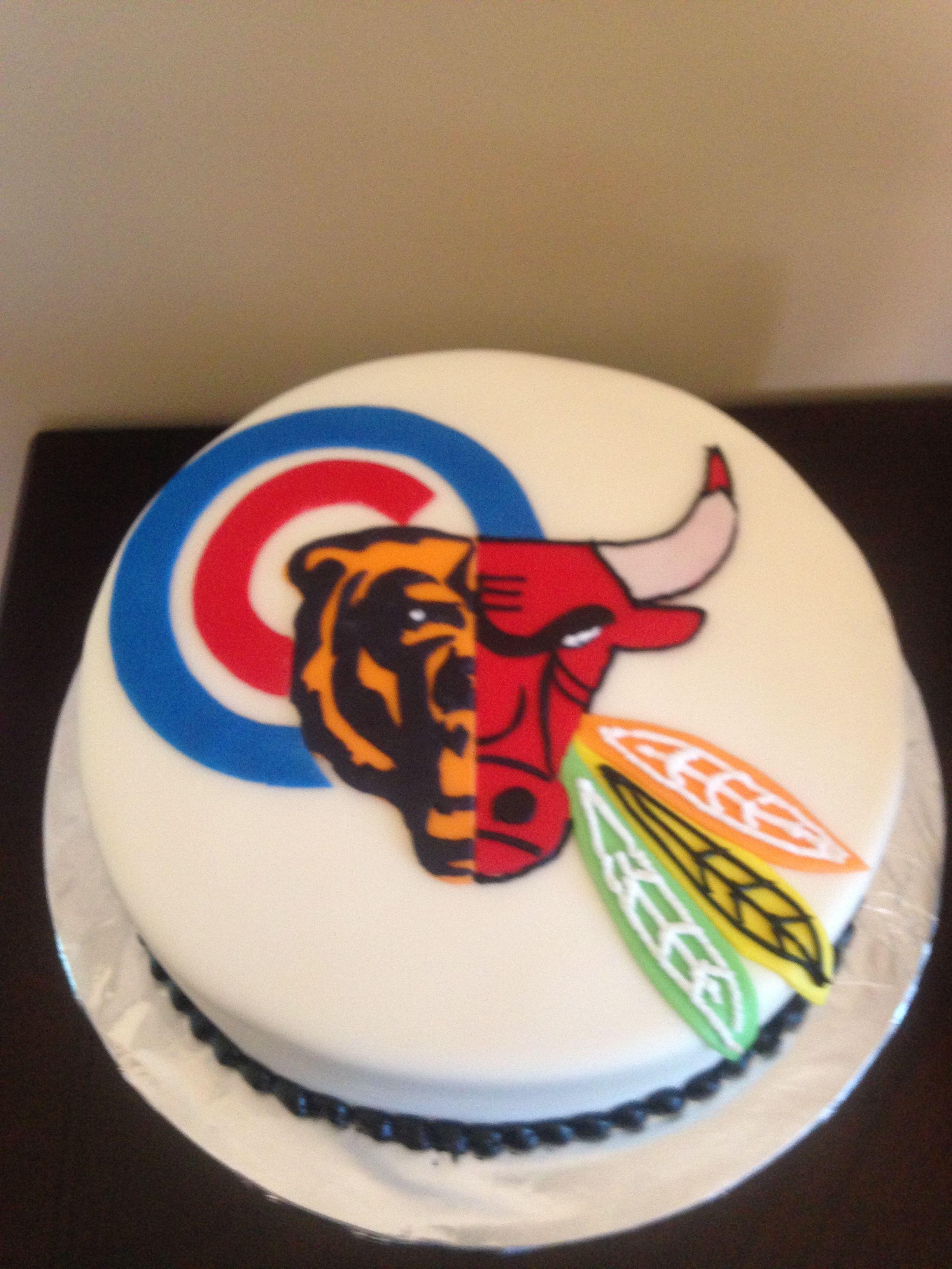 Chicago Sports Fan Cake My Cakes Pinterest Cake Sport Cakes