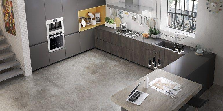 Cucina con maniglie integrate GIBILTERRA   Cucina con maniglie ...