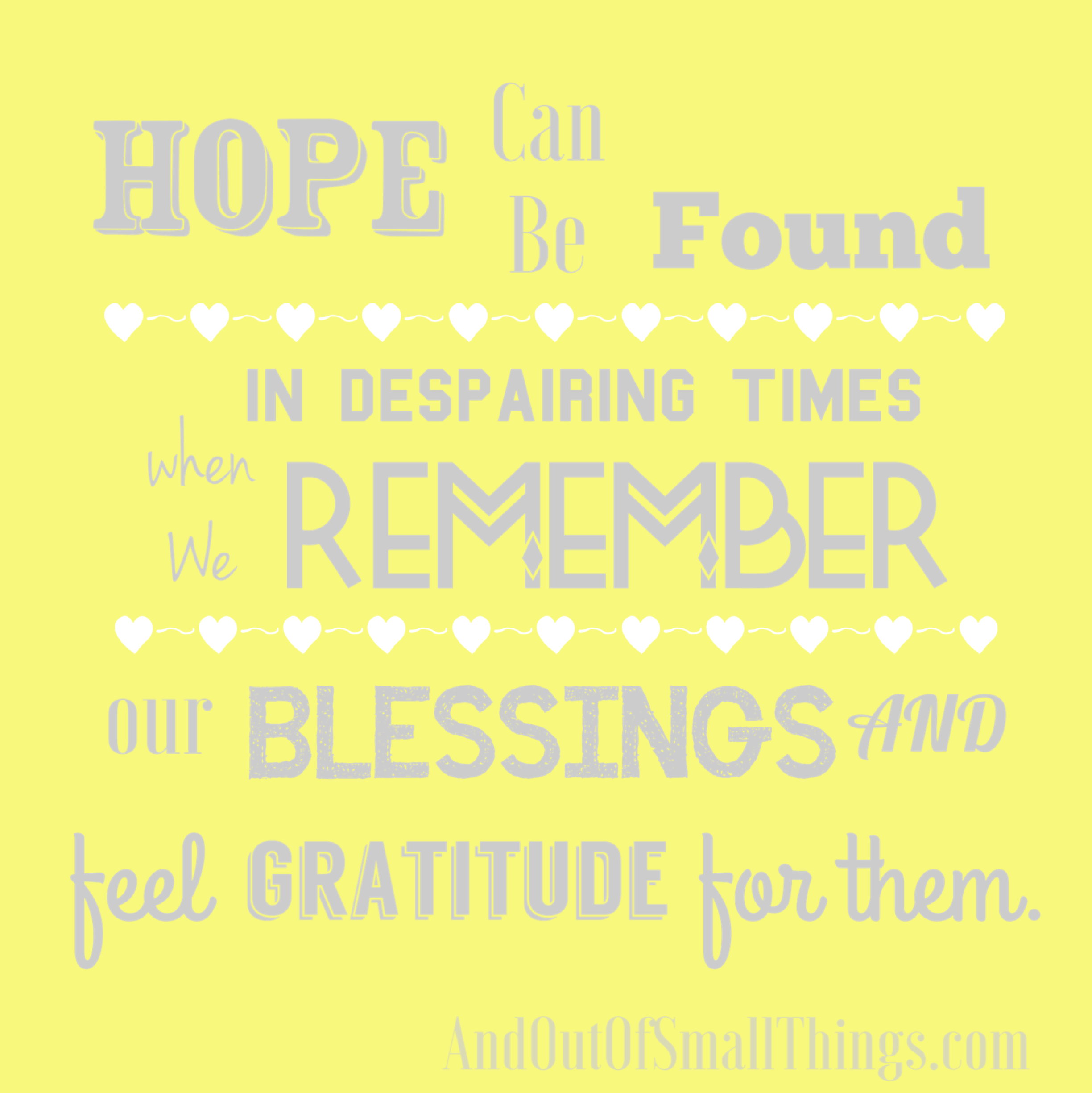 Being grateful, took me out of a place of feeling like we are all ...