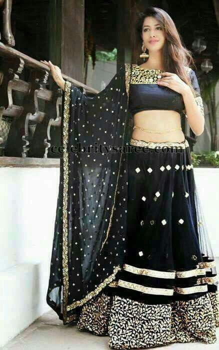 Pin by Faazii Sham on Asian attaires | Indian outfits, Traditional indian outfits, Black lehenga