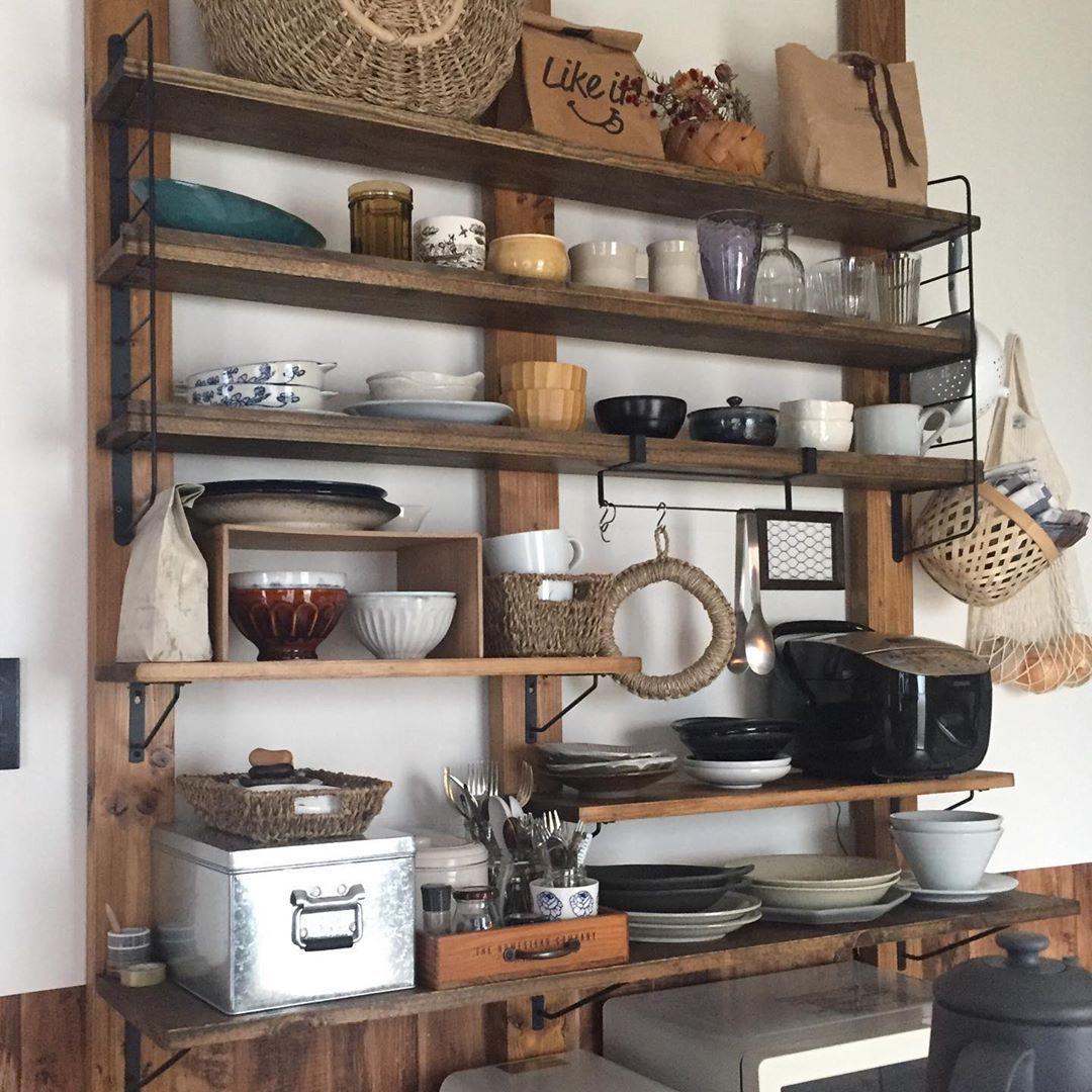 Uribonne On Instagram オープン食器棚 ディアウォール
