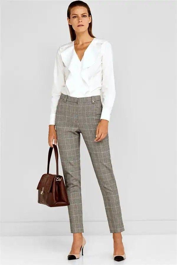 Pantalon De Vestir Pantalon De Tela Mujer Pantalones De Moda Pantalones De Vestir