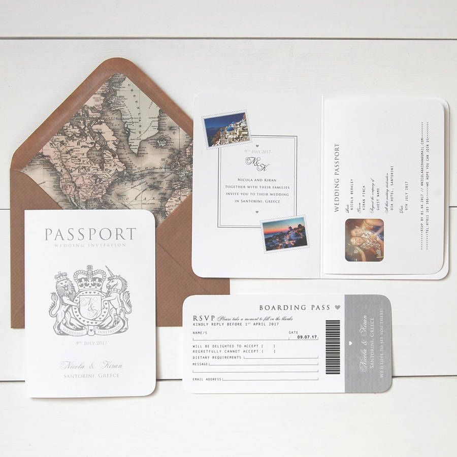 Around The World\' Passport Wedding Invitation -- I think this is the ...