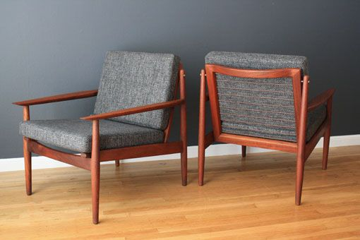 Danish Teak Lounge Chairs Designed By Grete Jalk For Glostrup