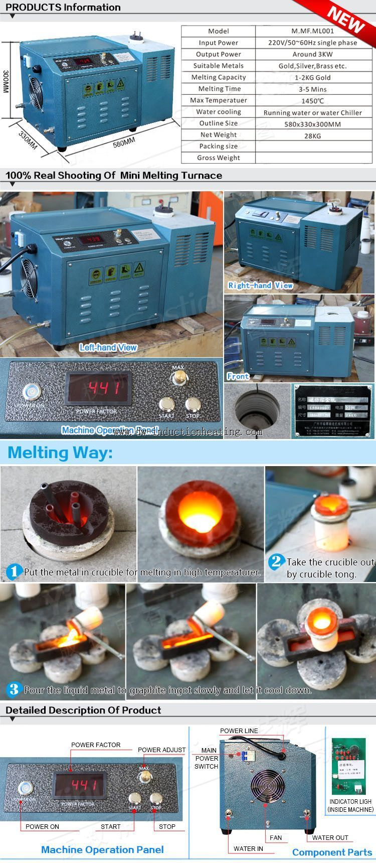 Mini Small Melting Gold Induction Furnace