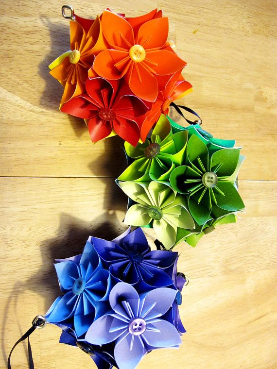 Prismatic origami kusudama flower hanging balls events pinterest prismatic origami kusudama flower hanging balls mightylinksfo