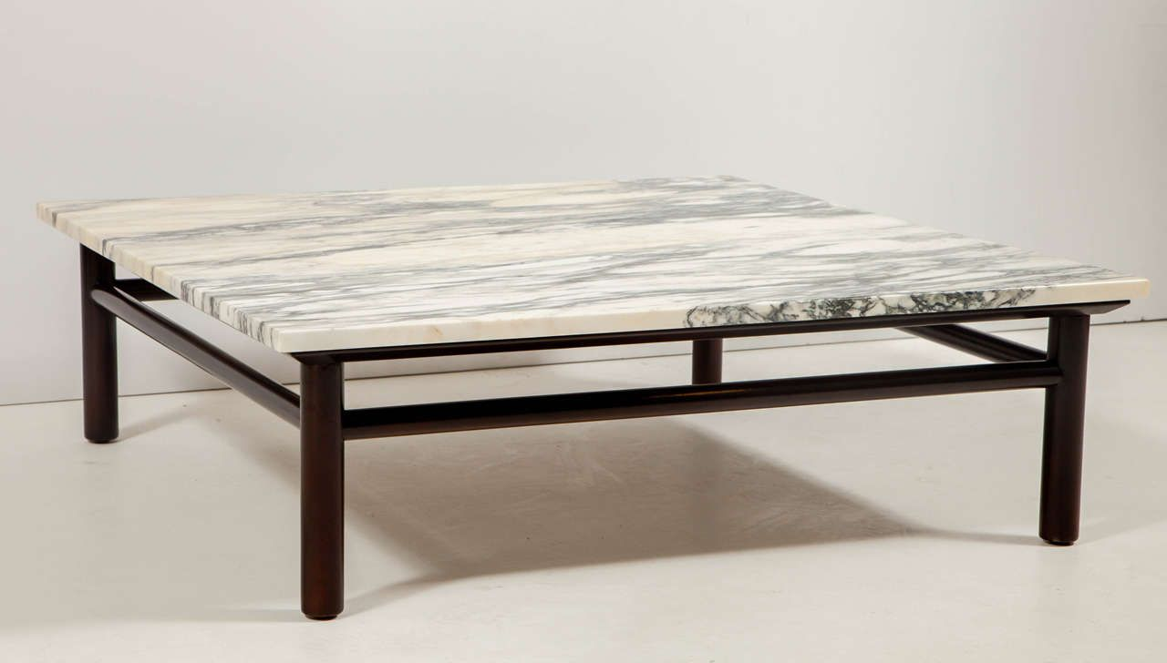 RobsjohnGibbings Walnut And Marble Coffee Table Marbles Dark - Walnut and marble coffee table