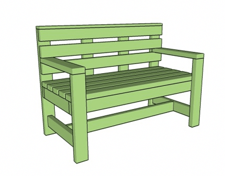 build a beautiful bench with these free diy woodworking plans rh pinterest com