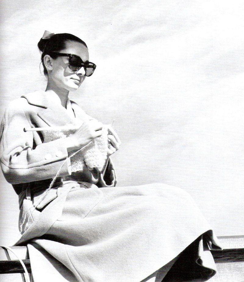 Audrey Hepburn knitting  #celebknitters