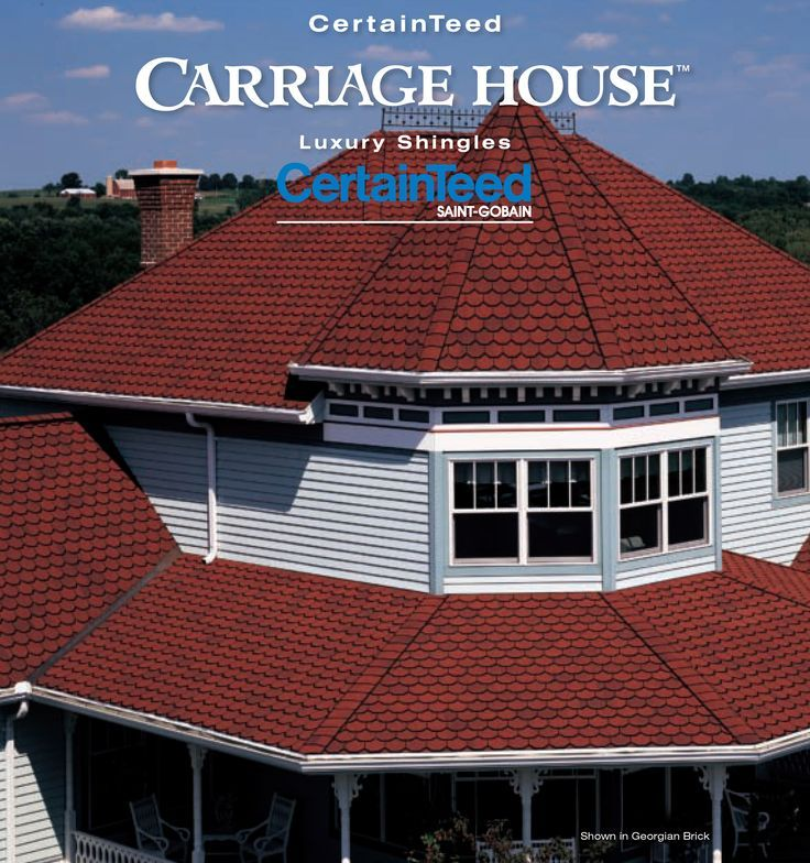 With Sweeping Lines And Rich Color Carriage House In Georgian Brick Exhibits A Deep Inner Strength And A Bold Aestheti Roofing Residential Roofing Certainteed