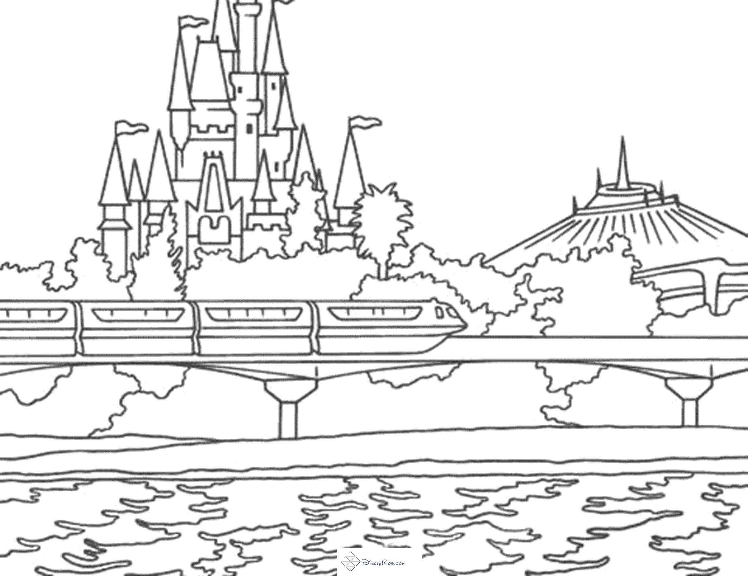 Cinderella Castle Disney World Disney Activities Disney Printables Disney Coloring Pages