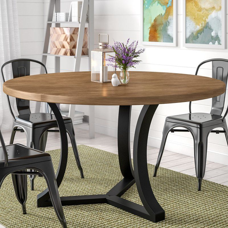 Louisa Solid Wood Dining Table In 2020 Dining Table Round