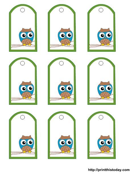 Free Owl Baby Shower Favor Tags Templates Print This Today Baby
