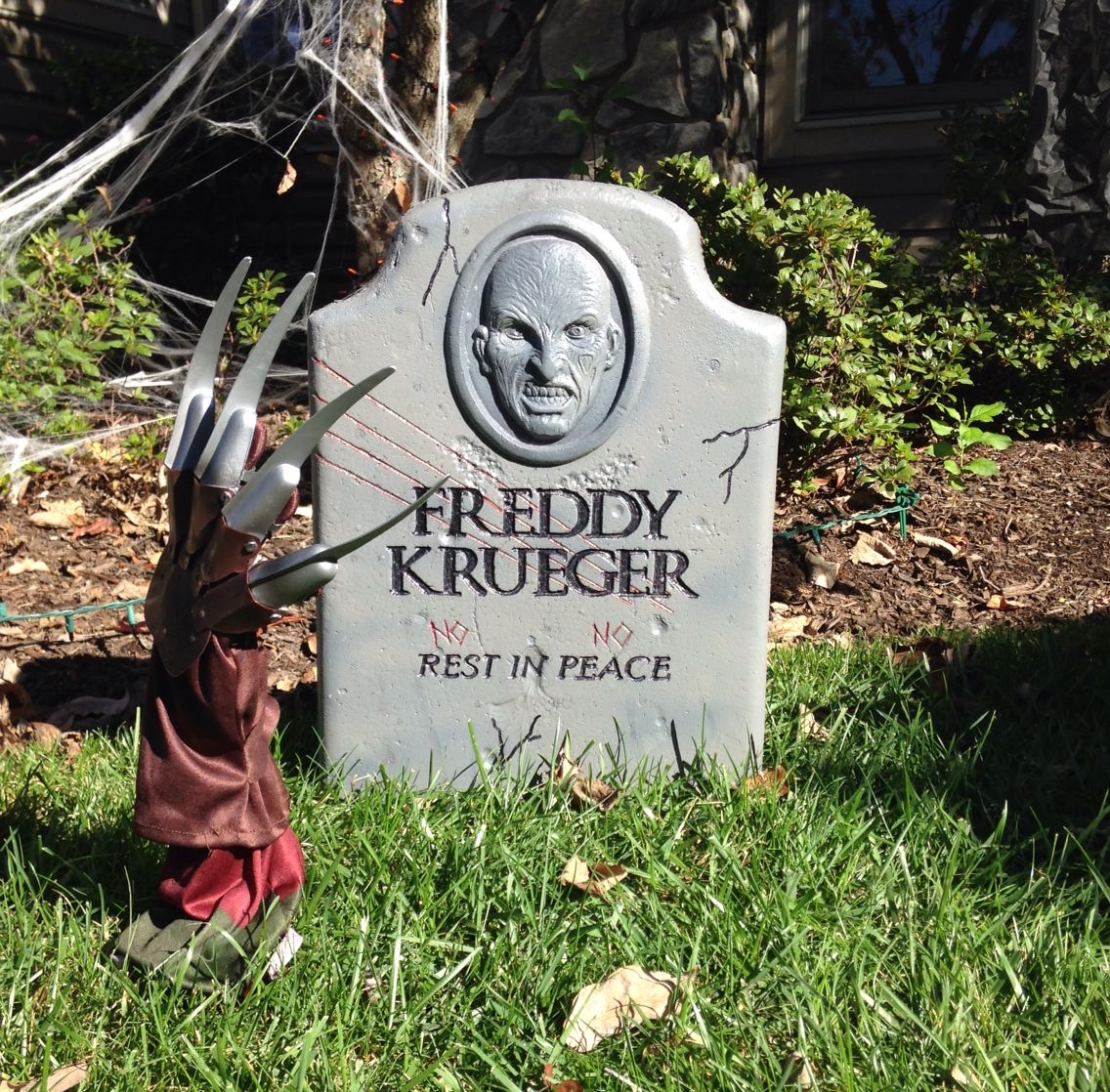freddy krueger grave outdoor props halloween graveyard - Freddy Krueger Halloween Decorations