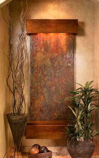 sensual home indoor wall fountain in front entry enjoy your professional feng shui design - Slate Wall Fountains Indoor