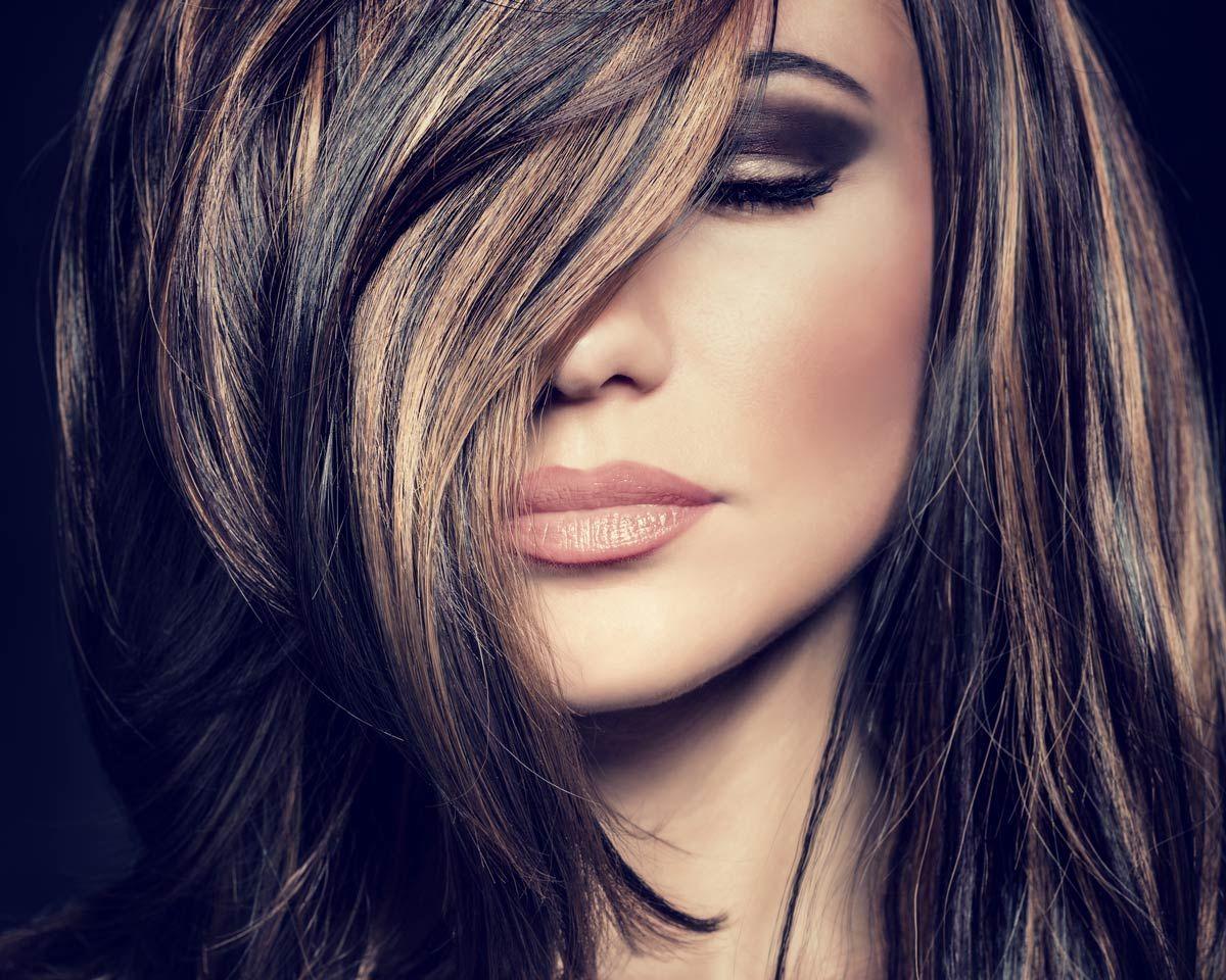 Partial Highlights On Dark Long Hair And Cuts Hairs Goals