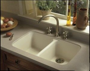 Installed: Corian® model 850 integral sink