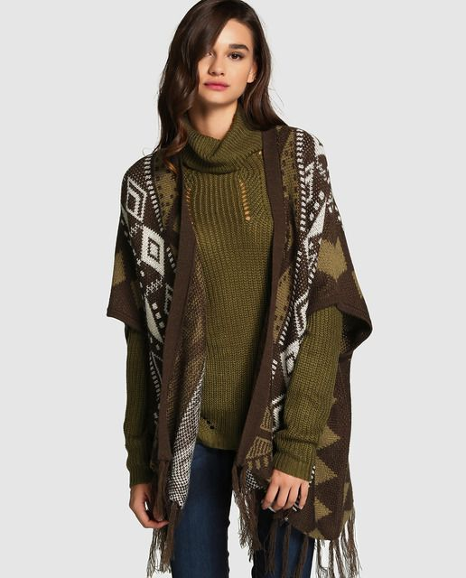 Abrigo corto de mujer Polo Ralph Lauren con estampado étnico