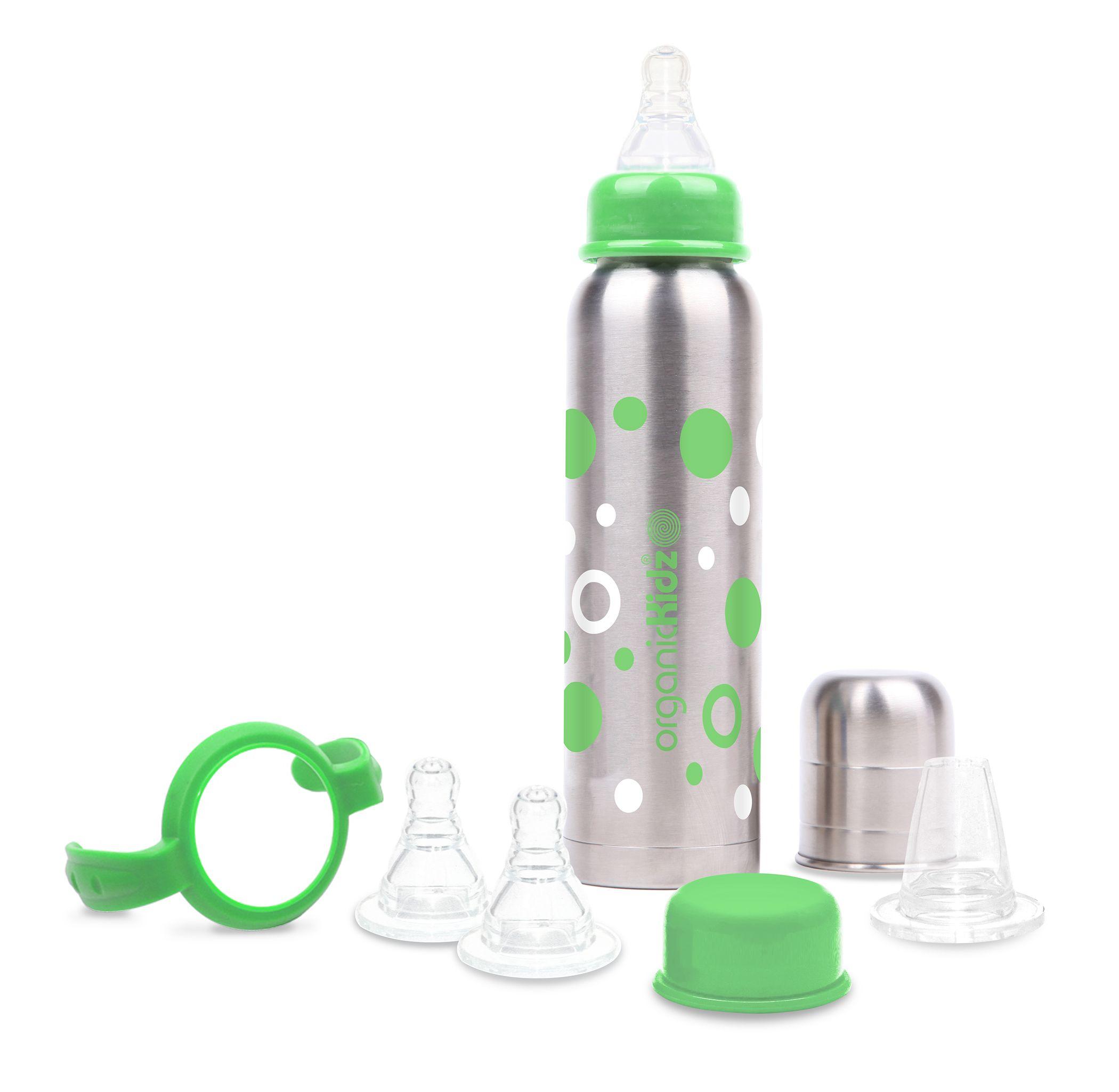 Biberons INOX Isotherme, pour garder les boissons de bébé à température durant 6 heures