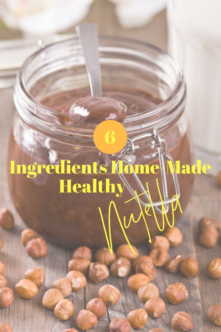6 ingredients homemade healthy nutella recipe healthy