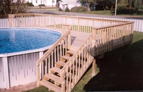 16 X 24 Pool Deck Plan At Menards Pool Deck Plans Decks Around Pools Building A Pool