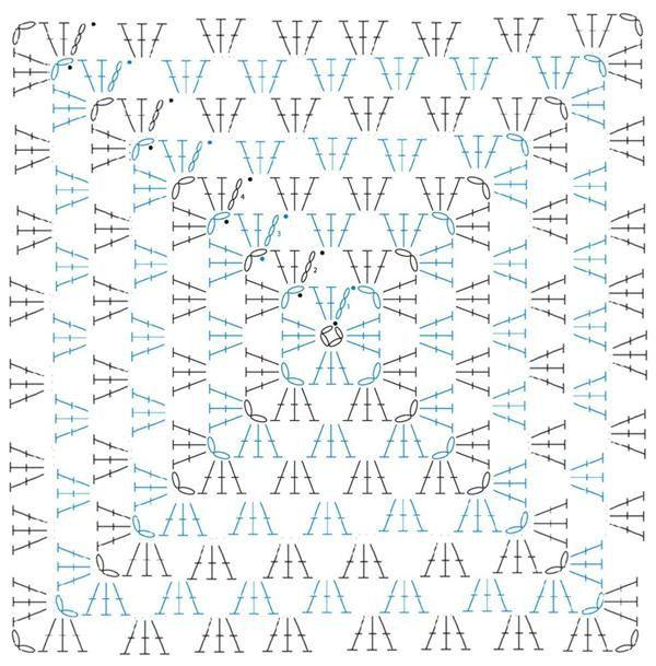 diagrama | Crochet | Pinterest | Patrón gratis, Guantes y Mi querido