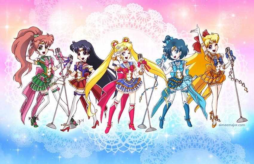 Idol sailor moon inner senshi by aimeekitty on deviantart