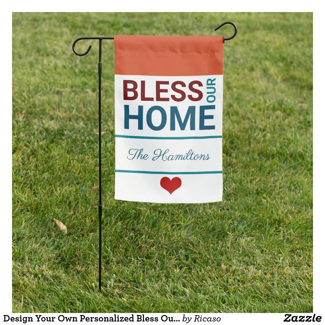 Design Your Own Personalized Bless Our Home Garden Flag ...