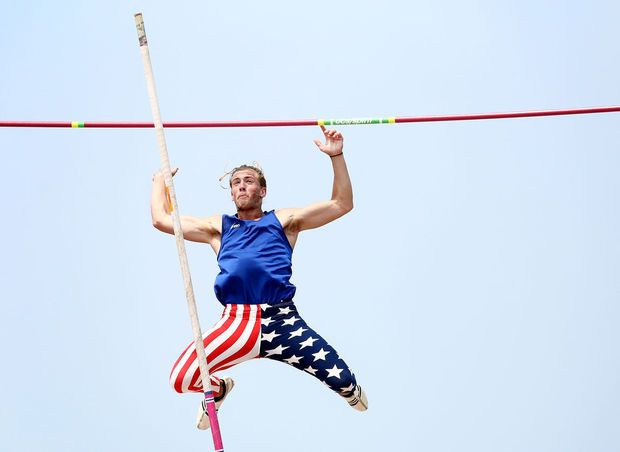 Annual Pole Vaulting Competition Moves Onto The River Pole Vault Track And Field Competition