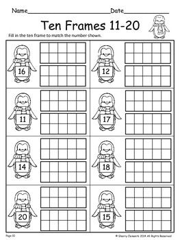 Ten Frames 11 20 Freebie Ten Frames Kindergarten Math Education Math