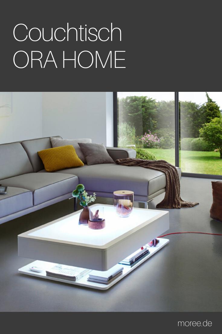 Couchtisch Beleuchtet Ora Home Led Pro Led Beleuchtung Integriert Wohnzimmertisch Wohnzimmer Tisch Weiss Couchtisch