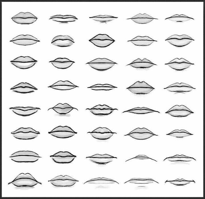 Mouth. Lips. Mouth shapes. Types. Reference. | Lips ...