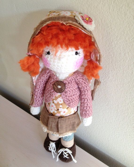 2 Handmade crochet dolls Reserved for Sophia by LinaMarieDolls
