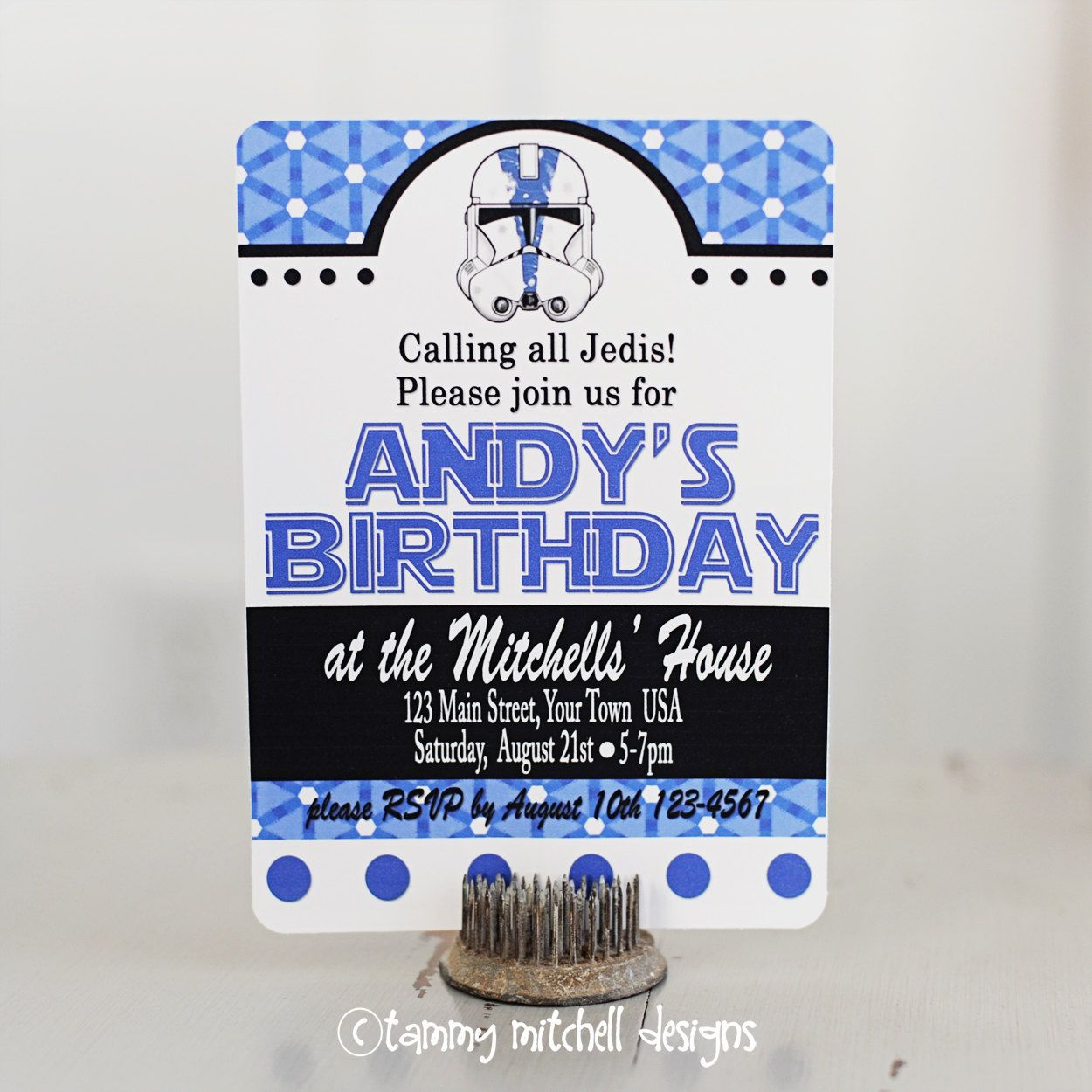 The Star Wars Collection 2 PRINTABLE Custom Party Invitation. $17.50, via Etsy.