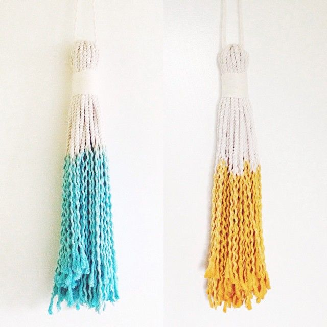 """""""Giant Tassels on the site. #tassellovin #chiefandkewpie  Check out @clareb8 for styling ideas on the Giant Tassel."""""""