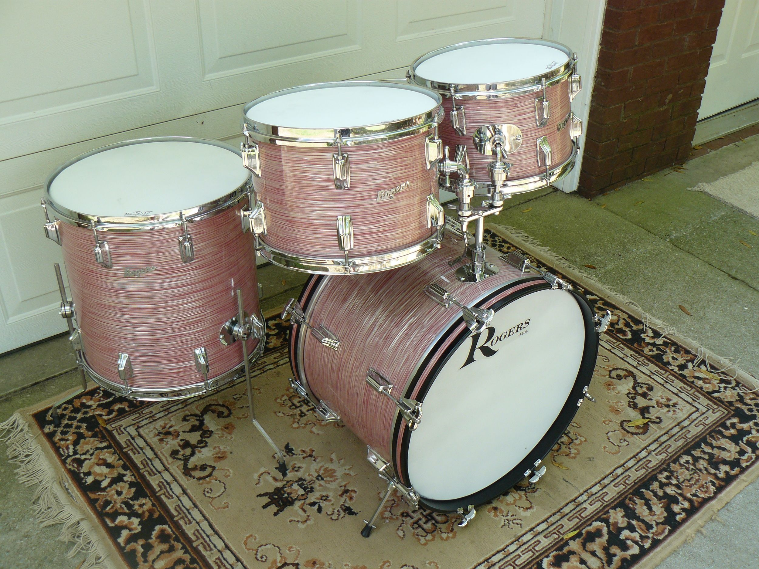 how to set up a gammon drum set