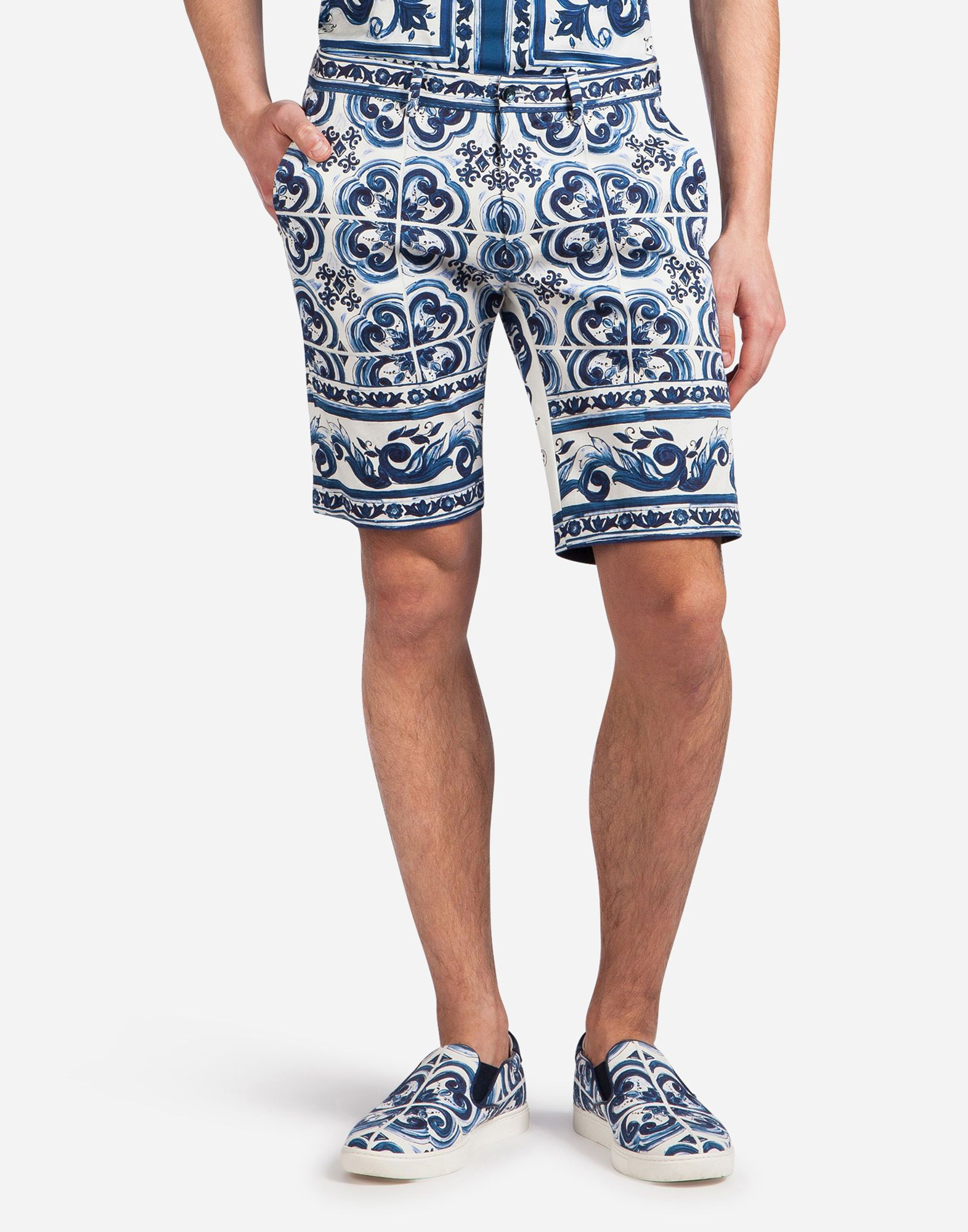dd9bb729f5 DOLCE & GABBANA Bermuda Shorts In Printed Cotton. #dolcegabbana #cloth #