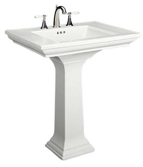 10 Easy Pieces Traditional Pedestal Sinks Small Pedestal Sink