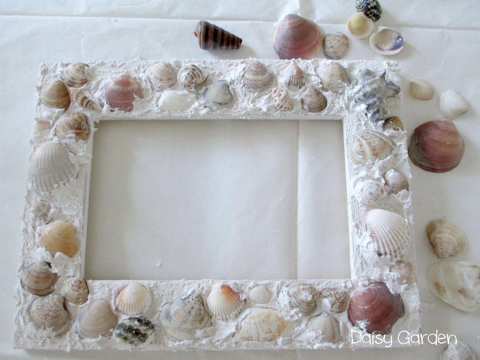 Coastal decor beach decor nautical decor seashell decor - Daisy Garden Cornice Con Conchiglie Fai Da Te Daisy