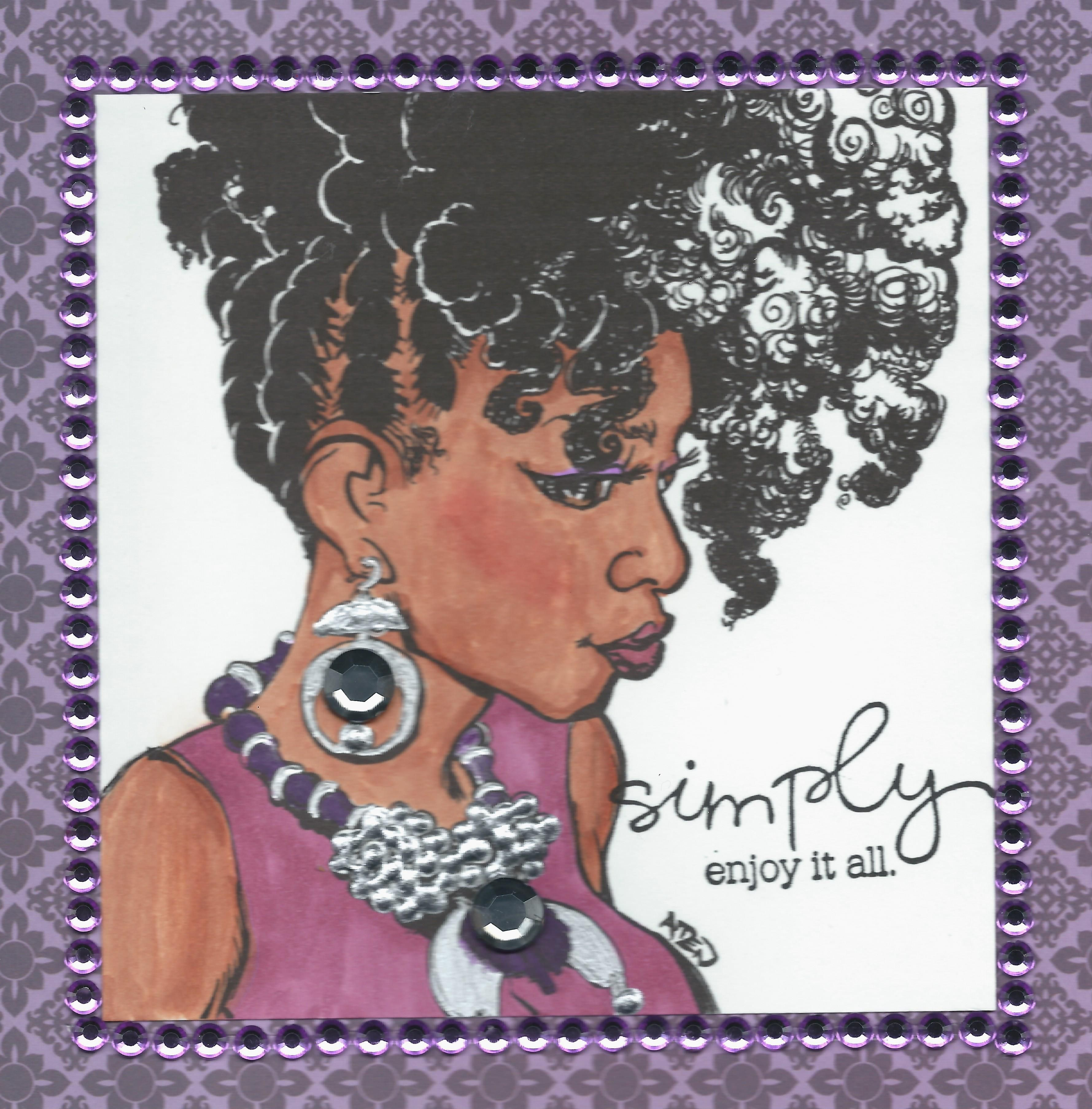 Available Now Afrocentric Birthday cards for women Card is