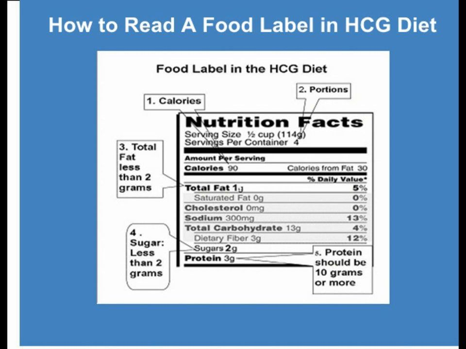 Reading Food Labels For The Hcg Diet Hcg Diet Reading Food Labels Hcg